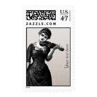 Vintage Violinist Postage