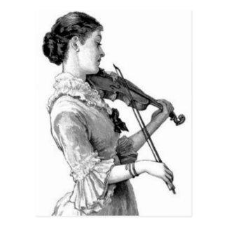 Vintage Violinist Postcard