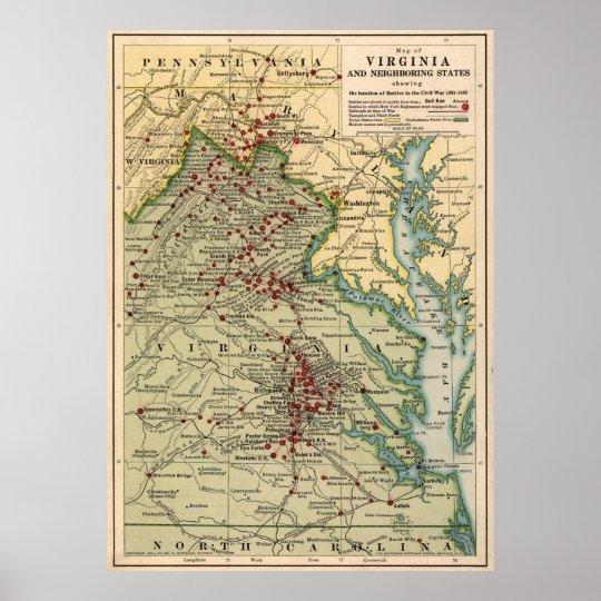 Vintage Virginia Civil War Battlefield Map (1912) Poster on georgia virginia map, colonial virginia map, fredericksburg va map, central virginia state map, county of va counties map, virginia meissner trail map, columbia gas of virginia map, slavery in 1860 virginia map, united states virginia map, battle of chancellorsville virginia map, american flag virginia map, manakin town virginia map, battle of richmond virginia map, california virginia map, 5 regions virginia map, petersburg virginia state map, hwy 58 virginia map, powell river virginia map, aquia creek virginia map, new york virginia map,