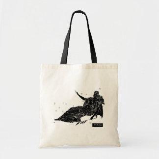 Vintage Virgo Tote Bag