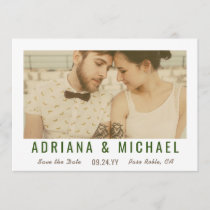 Vintage Vision Save the Date Photo Card