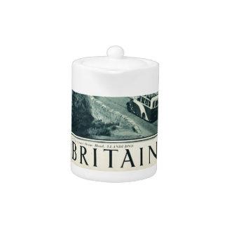Vintage Visit Britain Tourism Poster Teapot
