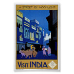 Vintage Visit India Travel Classic Poster