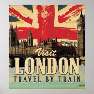 Vintage Visit London poster