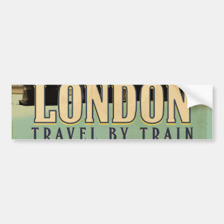 Vintage Visit London poster Bumper Sticker