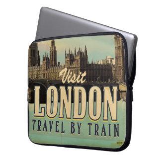 Vintage Visit London poster Computer Sleeve