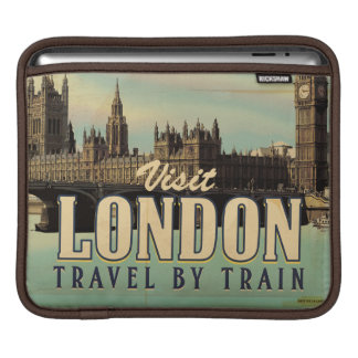 Vintage Visit London poster iPad Sleeve