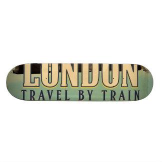 Vintage Visit London poster Skateboard Deck