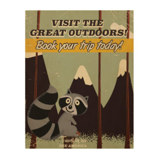 Vintage Visit the Great outdoors vacation poster
