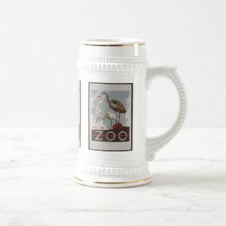Vintage Visit the Zoo 18 Oz Beer Stein