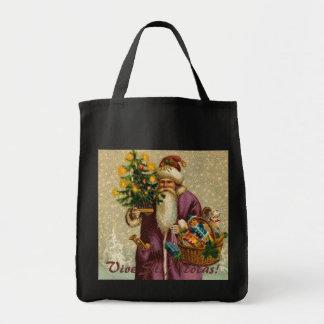 Vintage Viva St. Nickolas Grocery Tote Bag