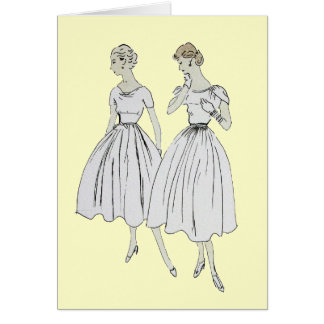 Vintage Vogue Greeting Card