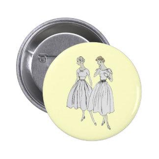 Vintage Vogue Pin Redondo De 2 Pulgadas