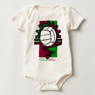 Vintage Volleyball Baby Bodysuit