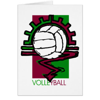 Vintage Volleyball T-Shirt Greeting Cards