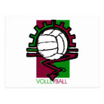 Vintage Volleyball T-Shirt Postcard