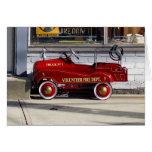 Vintage-Voluntario-Fuego-Camión del juguete Tarjeta
