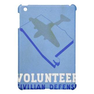 Vintage Volunteer Civillian Defense WPA Poster Case For The iPad Mini