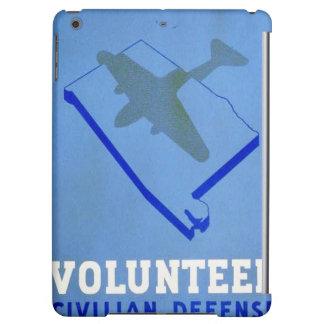 Vintage Volunteer Civillian Defense WPA Poster Cover For iPad Air