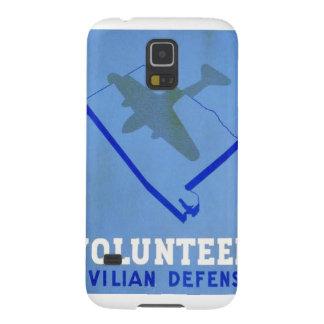 Vintage Volunteer Civillian Defense WPA Poster Galaxy S5 Covers