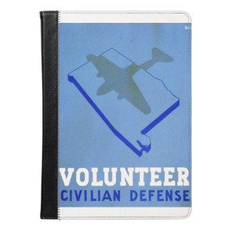 Vintage Volunteer Civillian Defense WPA Poster iPad Air Case