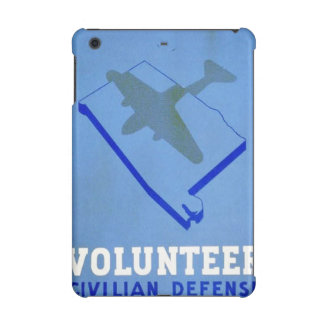 Vintage Volunteer Civillian Defense WPA Poster iPad Mini Covers