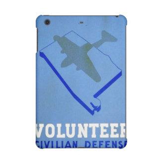 Vintage Volunteer Civillian Defense WPA Poster iPad Mini Retina Case