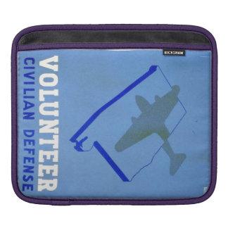 Vintage Volunteer Civillian Defense WPA Poster iPad Sleeve