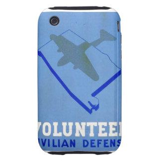 Vintage Volunteer Civillian Defense WPA Poster iPhone 3 Tough Covers