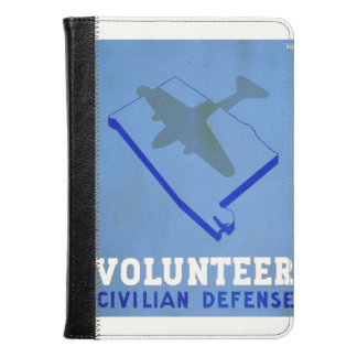 Vintage Volunteer Civillian Defense WPA Poster Kindle Case