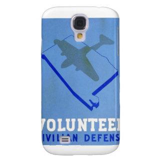 Vintage Volunteer Civillian Defense WPA Poster Samsung Galaxy S4 Cover