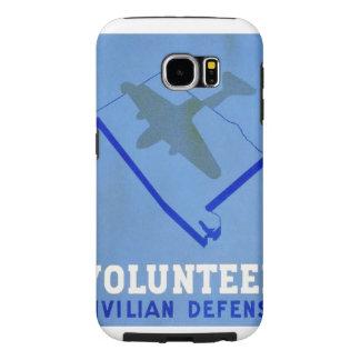 Vintage Volunteer Civillian Defense WPA Poster Samsung Galaxy S6 Cases