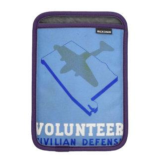 Vintage Volunteer Civillian Defense WPA Poster Sleeve For iPad Mini
