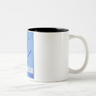 Vintage Volunteer Civillian Defense WPA Poster Two-Tone Coffee Mug