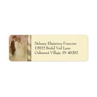 Vintage Vows - Oakmont in Yellow Custom Return Address Label