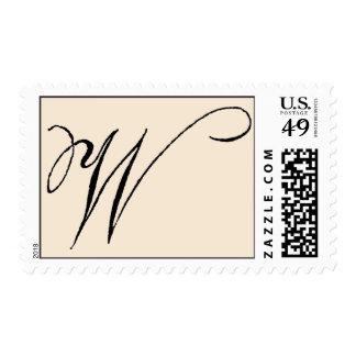 Vintage 'W' Monogram Postage Stamp
