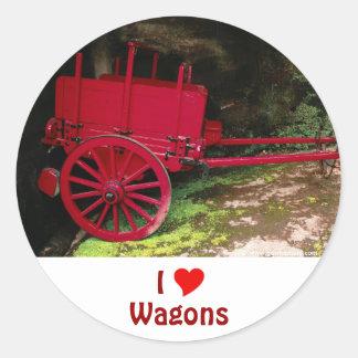 Vintage wagon classic round sticker