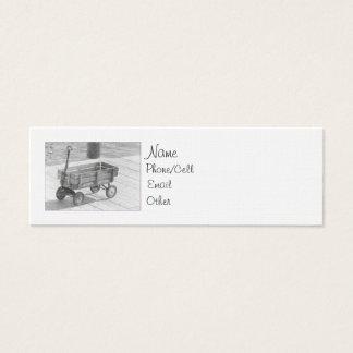 Vintage Wagon Mini Profile Mini Business Card