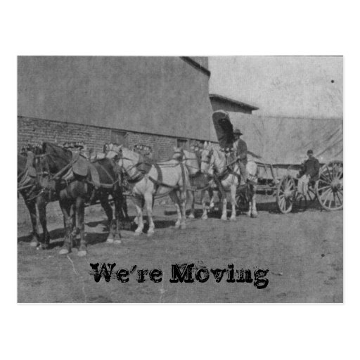 Vintage Wagon Moving Postcard