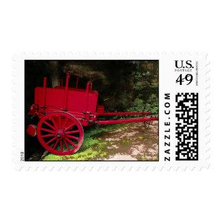 Vintage wagon postage stamp