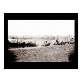 Vintage Wagon Train Postcard