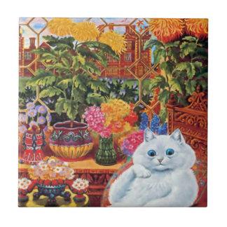 Vintage Wain Botanist Cat Gift Tile