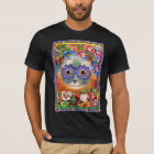 Vintage Wain Funky Flower Cat T-Shirt