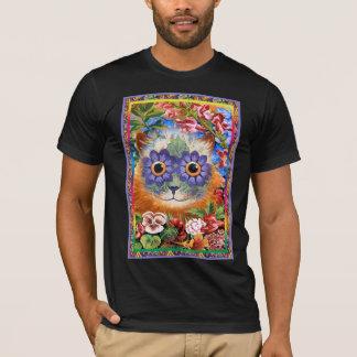 Vintage Wain Funky Flower Cat T-Shirt