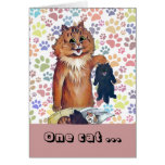 Vintage Wain One Cat Leads to Another Cat Art Card