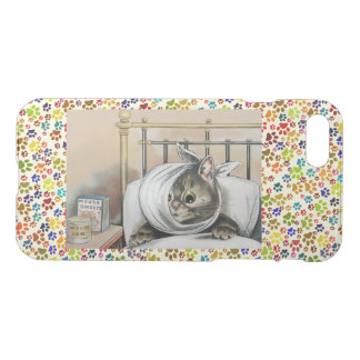 Vintage Wain Sick Tabby Cat Art iPhone 8/7 Case