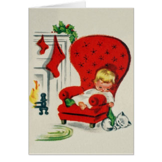 Vintage Santa Christmas Greeting Cards | Zazzle