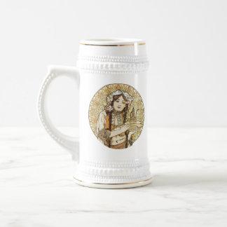 Vintage Waitress Art Nouveau Coffee Mugs