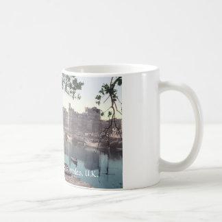 Vintage Wales mug, Carnarvon Castle 1905 Classic White Coffee Mug