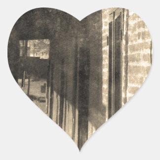 Vintage Walkway Heart Sticker